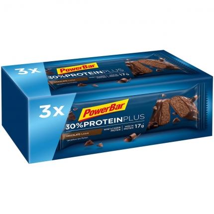 PowerBar Baton proteinowy 3 szt. 30% Protein Plus Bar 55g Czekolada